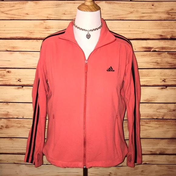 5a31c0790 adidas Jackets & Blazers - Adidas Coral Fleece Jacket with Black Accents